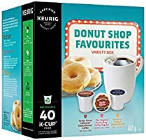 Donut Shop Coffee Favorites Variety Box Single Serve Keurig Certified Recyclable K-Cup pods for Keurig brewers, 40 Count