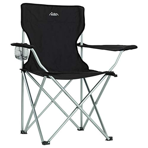 Andes Camping Chair with Carry Bag BLACK