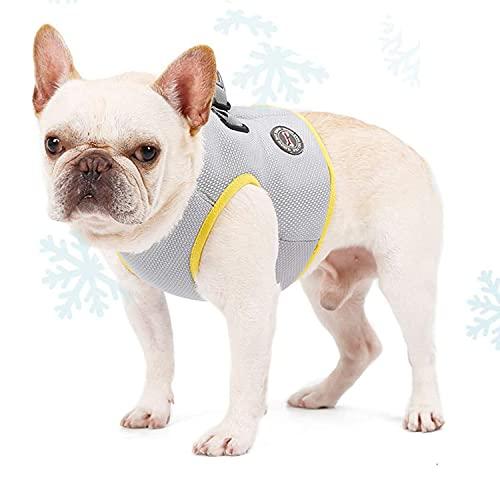 BORUIMA Dog Cooling Vest Harness with Adjustable Hook&Loop Breathable Cool Pet Cooler Vest for Outdoor Training Walking Hiking, Summer Cooling Jacket for Large Dogs (XL)