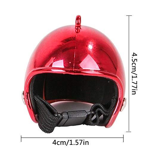 rosemaryrose Helm Für Hunde Fahrradhelm -Haustier Helm Lustige Huhn Schutzhelm - Henne Harten Vogel Hut Kopfbedeckung
