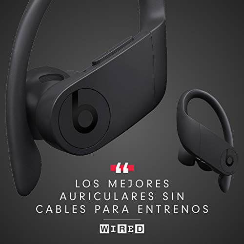 PowerbeatsPro - Auriculares intraurales inalámbricos - Chip Apple H1, Bluetooth de Clase1, 9horas de sonido ininterrumpido, resistentes al sudor - NEGRO
