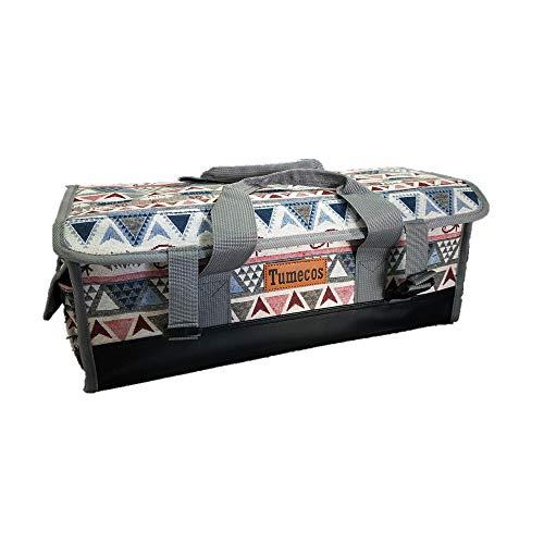 Tumecos ペグ収納 マルチコンテナ ボックス 大容量 収納ケース ペグケース ペグハンマー収納 アウトドア 多機能 クッキングツール 調味料ケース キャンプ テント アクセサリー収納袋 ツールボックス グレー