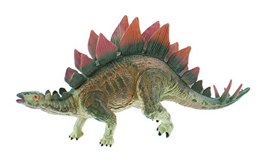 Toi-Toys Figura de dinosaurio verde/rojo, 24 cm