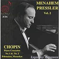 メナヘム・プレスラーの芸術 Vol.2 (Menahem Pressler Vol.2 ~ Chopin : Piano Concertos No.1 & No.2 , Polonaises , Mazurkas) (2CD) [輸入盤]