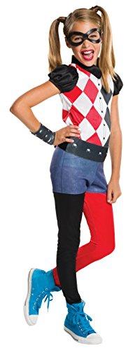 DC Comics - Disfraz de Harley Quinn classic para niña, infantil talla 8-10 años (Rubie's 620744-L)