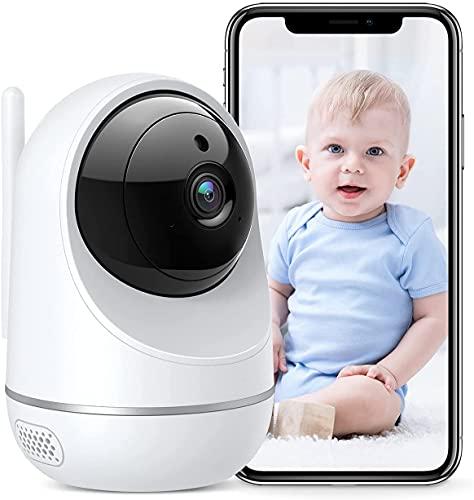 PC650W Telecamera Wi-Fi Interno, 1080P Dualband 2.4Ghz & 5Ghz WiFi,Telecamera Sorveglianza WiFi, Baby Monitor con Visione Notturna, Rilevamento del Movimento Attraverso IPC360 Home App