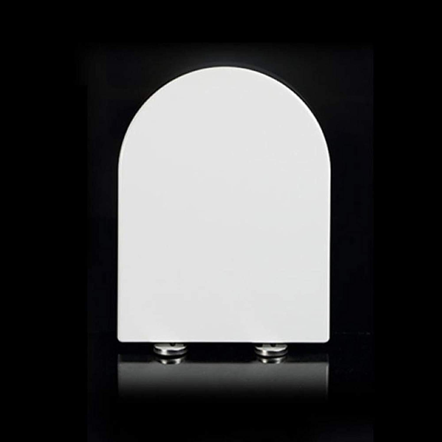 LBRVICTRY Toilet Seat For Household Use U-Shaped White With Soft Close For Top Mounting,White-U A