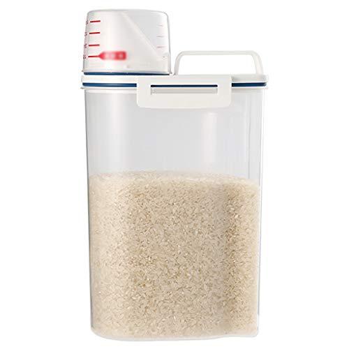 LYMQY - Contenitore per riso, ermetico, per alimenti secchi e secchi, secchio sigillato a prova di umidità, serbatoio per riso a prova di insetti, dosatore, per cereali, farina e forniture da forno