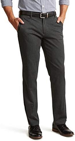 Dockers Men s Straight Fit Signature Lux Cotton Stretch Khaki Pant Charcoal Heather 33W x 30L product image