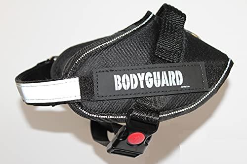 Pettorina cane tattica militare soccorso regolabile con maniglia superiore adatta ad ogni cane. Ideale per corsa e addestramento. Resistente e robusta (S, nero)