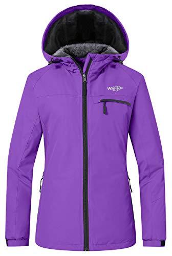 Wantdo Women's Windproof Ski Jacket Cotton Padded Raincoat Windbreaker Purple S