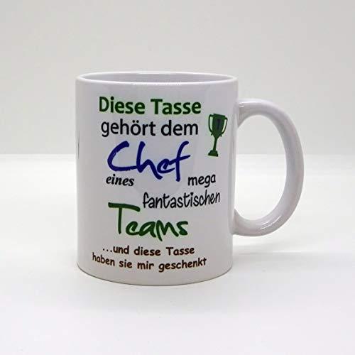 Kaffeebecher ~ Tasse - Diese Tasse gehört dem Chef -fantastischen Team~ Arbeit Job~ Weihnachten Geschenk