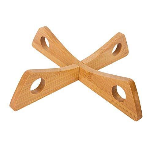Non-brand Alfombrilla de Aislamiento de Bambú Extraíble Alfombrilla de Creativa Herramienta de Cocina