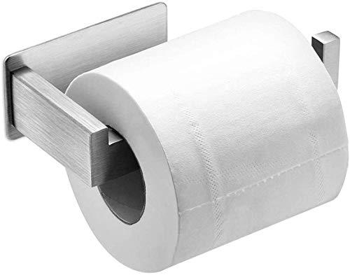 Auxmir Toilettenpapierhalter ohne Bohren, WC Klopapierhalter Rollenhalter Papierhalter Klorollenhalter Edelstahl Selbstklebend für Badezimmer Toilette Küche, Rostfrei, Silber