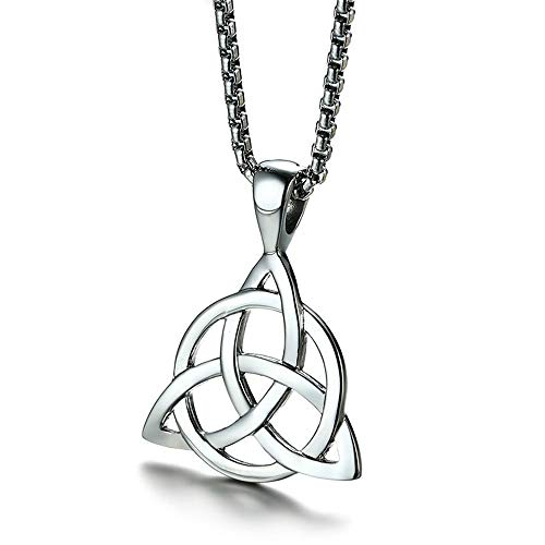 Triquetra Knot Pendant, Triquetra Necklace, Celtic Necklace, Trinity Knot, Triple Goddess Pendant, Witchcraft, Wiccan Jewelry,
