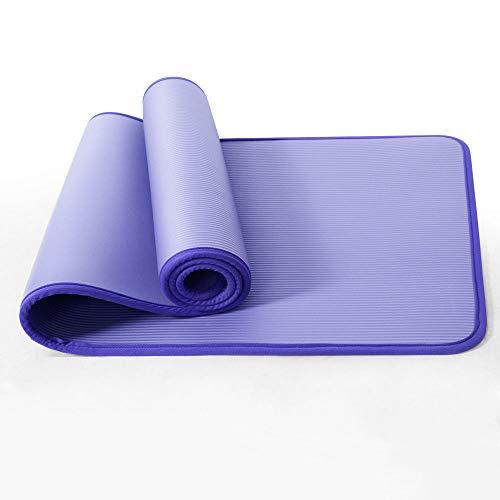 Ihoming NBR Esterilla de Yoga Esterilla de Entrenamiento Antideslizante Extra Gruesa con Correa para Yoga, Pilates y Gimnasia