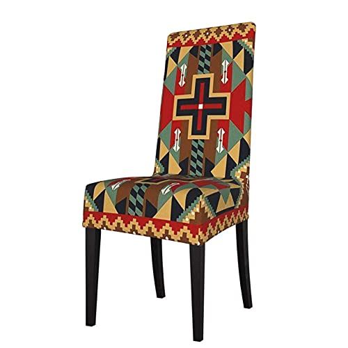 Fundas para sillas Tribesman American Dakota Suthwestern Rustic Cross Stretch Silla de Comedor Protector Asiento Funda de Asiento para sillas