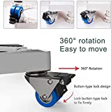 SEISSO Multi-functional Movable Adjustable Base with 4 Strong Feet and 4×2 Locking Rubber Swivel Wheels Appliance Roller Base Dolly for Dryer, Washing Machine and Refrigerator (300kg Load)