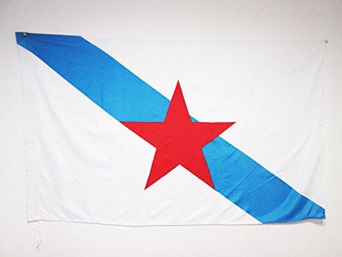 AZ FLAG Bandera de Galicia ESTRELEIRA 150x90cm para Palo -