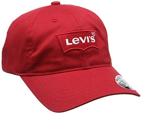 Levi s Big Batwing Flex Fit, Berretto da Baseball Uomo, Rosso, Taglia unica (Taglia Produttore: UN)