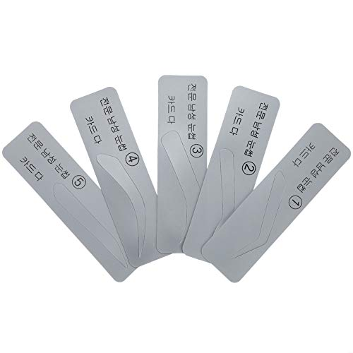 Pochoirs à sourcils 5pcs, modèles de sourcils utilisés répétés, plastique à usage professionnel