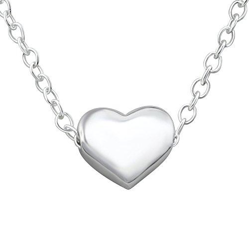 Laimons Collar para mujer Corazoncito delicado Brillante Plata de ley 925