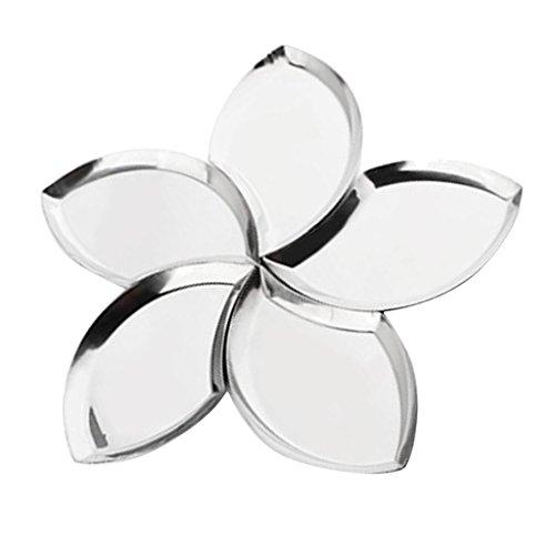 MagiDeal Blume Form Tisch Servierplatten Obstteller Snackteller Vorspeisenteller Dessertteller