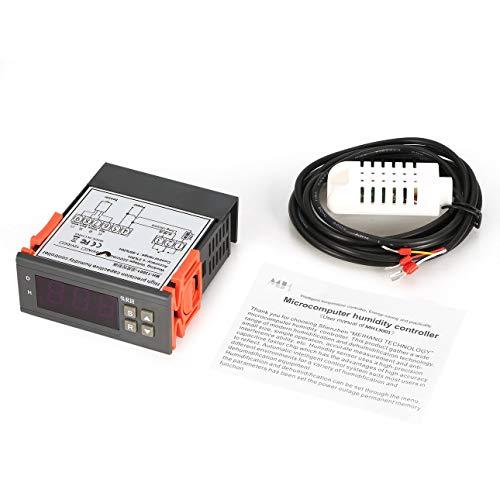 Ballylelly para MTC1000A AC 220V Digital LED Microcomputadora Controladores de Humedad Higrómetro Deshumidificador Interruptor Relé Higrostato 0-99% Control de HR