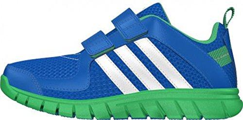 adidas STA Fluid 3 CF K - Zapatillas para niño, Color Azul/Verde/Blanco, Talla 39 1/3