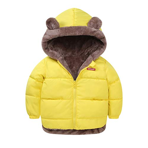 Abrigo Niños 1-5 Años,Logobeing Chaquetas de Niñas Abrigo A Prueba de Viento de Invierno Orejas de Oso Chaqueta con Capucha Gruesa Outwear