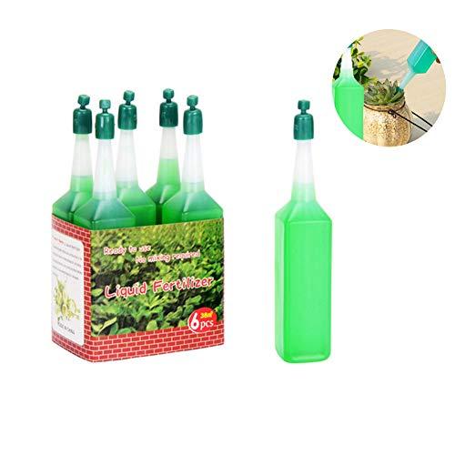 rfhan 38ml / 6pcs Solución nutritiva concentrada para Plantas de Uso General Fertilizante carnoso Fertilizante de Flores en macetas Suministros de Flores de jardín