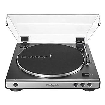 Audio-Technica AT-LP60X-GM Fully Automatic Belt-Drive Stereo Turntable Gunmetal/Black Hi-Fi 2 Speed Dust Cover Anti-Resonance Die-Cast Aluminum Platter