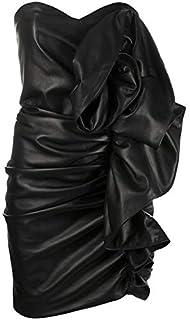 LUST FOR PELLE drappeggiato abito senza spalline per le donne