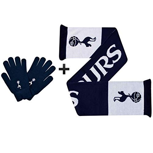 THFC Officiële Tottenham Hotspur (Spurs) Winter Warmers Sjaal & Handschoenen Set