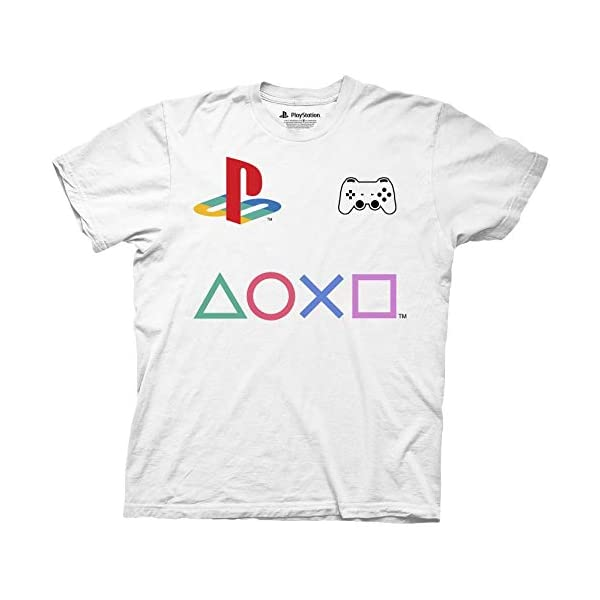 Mens Sony Playstation Controller T-Shirt – Sony Playstation Controller Mens...