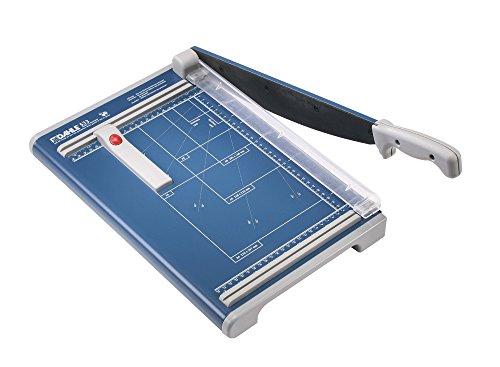 Dahle - Cizalla de palanca (36,5 x 60 cm, longitud de corte 340 mm, capacidad de corte 1,5 mm, tamaño A4), color azul