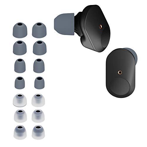 kwmobile 14x Ersatzpolster kompatibel mit Sony WF-1000XM3-4 Größen - Silikon Ersatz Ohrstöpsel In-Ear Kopfhörer - Polster
