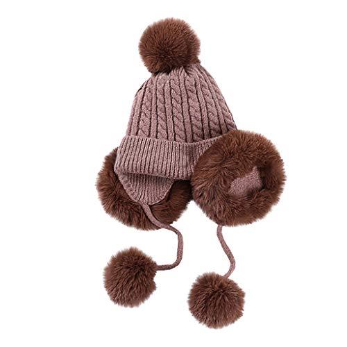 RoMantic sports Bonnet bébé dans l'oreille Chapeau-bébé Enfant Fille garçon Doux Chaud tricoté Chapeau Enfant Chapeau d'hiver avec Doublure en Laine