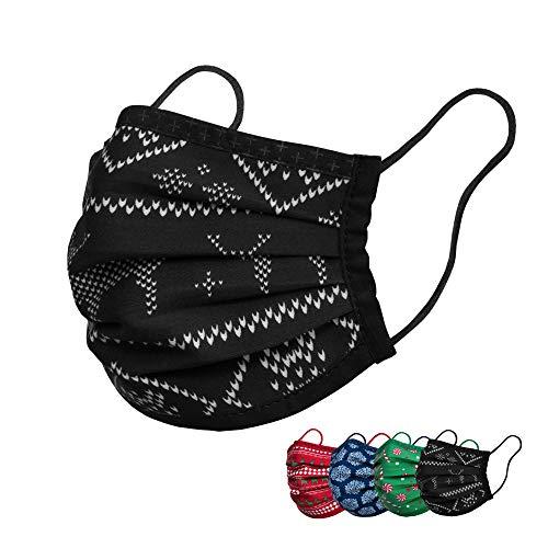 Isko Vital Supreme Gesichtsschutz Winter– Waschbarer Mundschutz mit Nasenbügel aus Bio-Baumwolle – Für Damen und Herren – 4 einzeln verpackte Masken in der Größe L