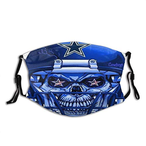 Mundschutz Dallas-Cowboys N-FL Fußball Sport 2 Unisex waschbare und Wiederverwendbare warme Baumwollgesichtsdekorationen für den Außenbereich