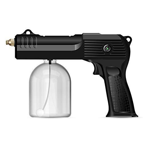 Máquina nebulizadora inalámbrica de 500 ml, 4 boquillas, sin gotas de agua, atomizador real, batería de 4000 Mah, máquinas de nebulización portátiles para el hogar y la oficina,Negro