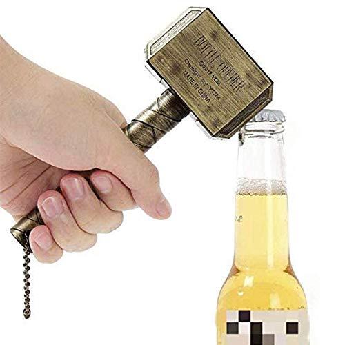 Mjolnir Bottle Opener,Thor's Hammer Bottle Opener,Marvel Avengers Beer Bottle Opener,Perfect for Bar/Home Decoration and Marvel Lovers and Party, BBQ, Camping, Beer Lovers