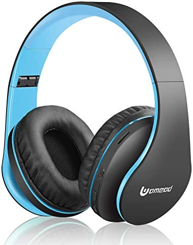 Uomeod Wireless Bluetooth Over Ear Headphones, Foldable Wireless and Wired Stereo Headset with Built-in Mic, Micro SD/TF, FM Radio, Soft Earmuffs & Light Weight for Cell Phone PC