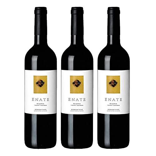 Vino Tinto Enate Reserva de 75 cl - D.O. Somontano - Bodegas Enate (Pack de 3 botellas)