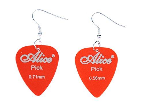 Plectro plectro pendientes Miniblings remolque guitarra banda de la guitarra eléctrica anaranjada