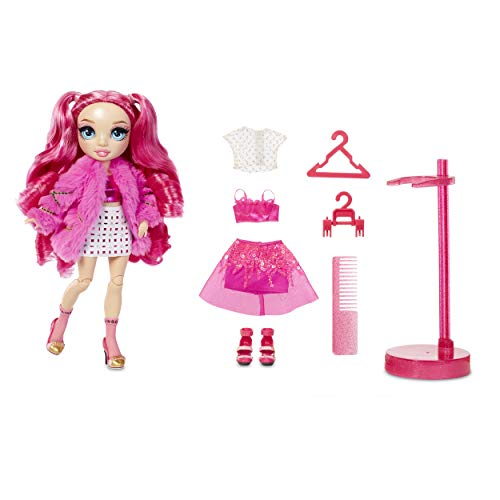 Rainbow High Stella Monroe – Fuchsia Hot Pink Fashion Doll with 2 Doll Outfits to Mix amp Match and Doll Accessories Great Gifts for Kids 612 Years Old