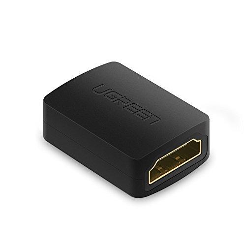 UGREEN Coupleur HDMI Rallonge HDMI Femelle vers Femelle Connecteur Plaqué Or 4K 3D ARC Compatible avec PC PS4 Xbox 360 TV Stick Chromecast TV box