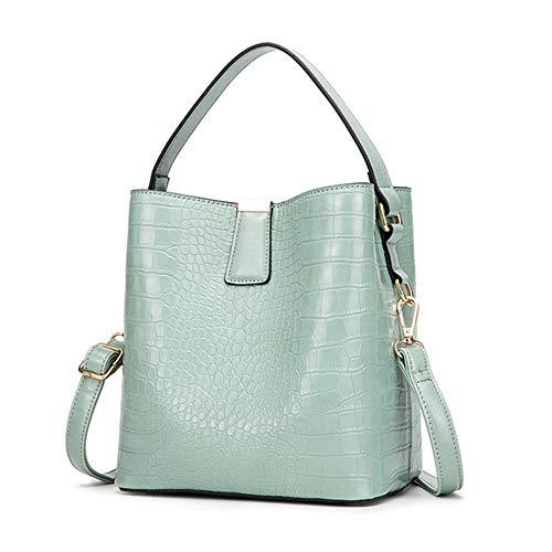 OZUKO Women Tote Bags Top Handle Satchel Handbags Tote Purses PU Leather Hobo Handbags Shoulder Bucket Crossbody Purse (Light green)