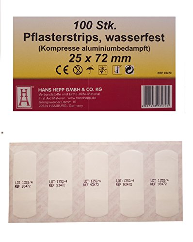 100 pleisterstrips 25 x 72 mm compressor aluminium bedampt