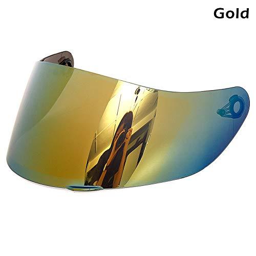 Harwls - Parasole per casco con visiera integrale per AGV K1 K3SV K5 oro
